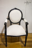 OVAL FLORAL ARMCHAIR | Black & White