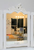 FRENCH TRIPLE  MIRROR DRESSING TABLE  | White