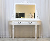 FRENCH TWO DRAWER DRESSING TABLE | White