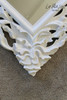 FLOWER CARVED MIRROR | Antique White