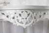 GRAPE CARVED CONSOLE TABLE | White