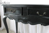 TWO DRAWER HALL TABLE | Black