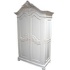 FLOWER CARVED TWO DOOR ARMOIRE