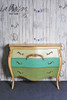 PRE ORDER: Three Drawer Chest - antique blue green