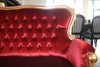 SALLY 2-SEATER SOFA | Red & Gold