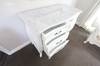 FRENCH SHABBY MARBLE TOP CHEST | White