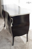 CHRISTEL 2 DOOR COMMODE | Black & Silver