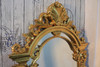 SHELL PEDIMENT MIRROR | Gold