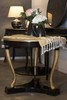 ROUND TABLE WITH SHELVE   Black & Gold