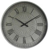 GREY OLD TOWN METAL WALL CLOCK - TAIWAN MOVEMENT LARGE