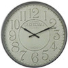 WHITE OLD TOWN METAL WALL CLOCK - TAIWAN MOVEMENT MEDIUM