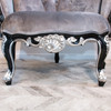 GIRONDE CARVED SEAT | Black and Silver