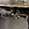 FRENCH NOIR HALF MOON CONSOLE TABLE   Black with Silver