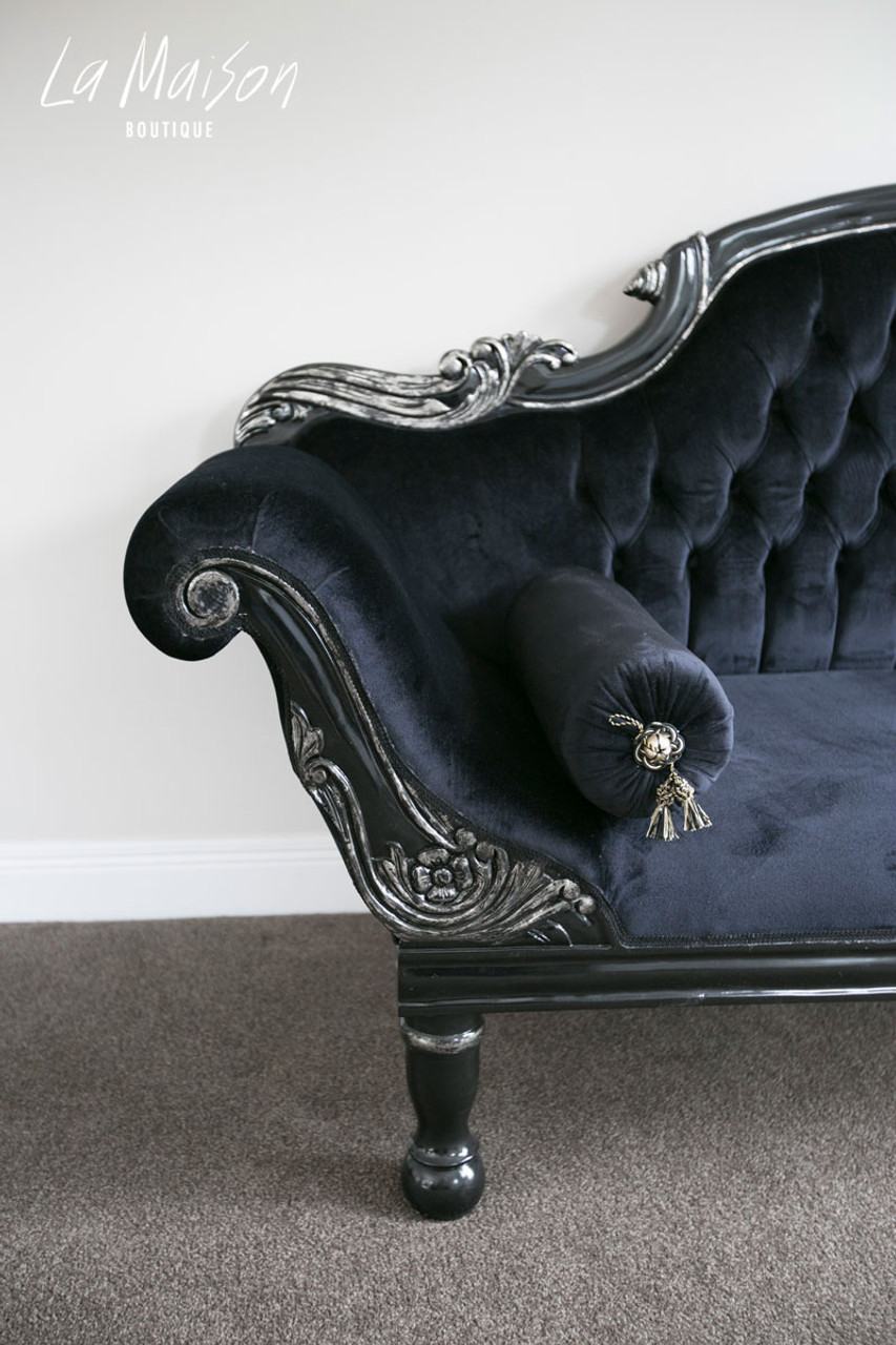 Silver Double Ended Chaise LongueBlackamp; Colonial Ie2WDY9EH