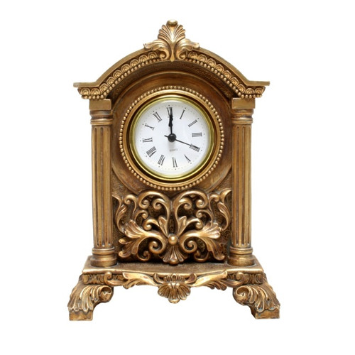 GOLD ANTIQUE TABLE CLOCK