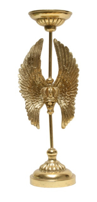 SAFARI WINGS GOLD CANDLE HOLDER