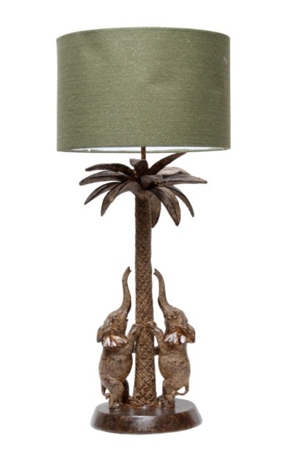 ELEPHANTS TABLE LAMP W/ SHADE