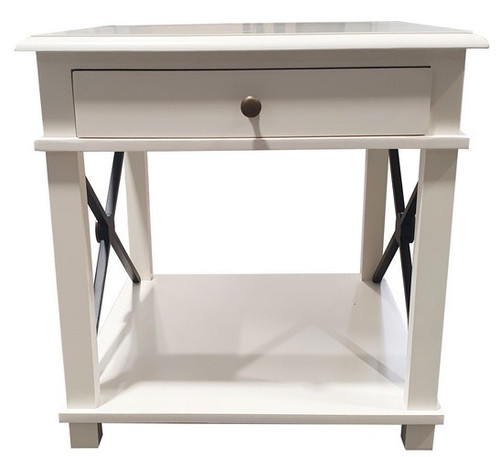 CHATEAU LAMP TABLE | WHITE
