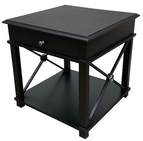 CHATEAU LAMP TABLE | BLACK