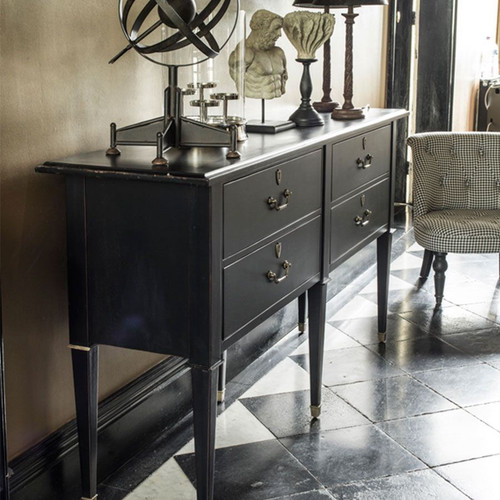 CENACLE DOUBLE CHEST OF DRAWERS - BLACK