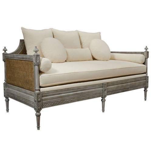FRENCH CANE SOFA DAYBED