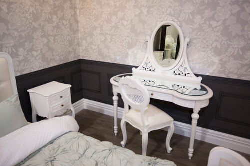 IN STOCK: Bedside Table - antique white