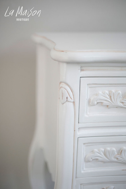 LOUIS BEDSIDE TABLE | Antique White