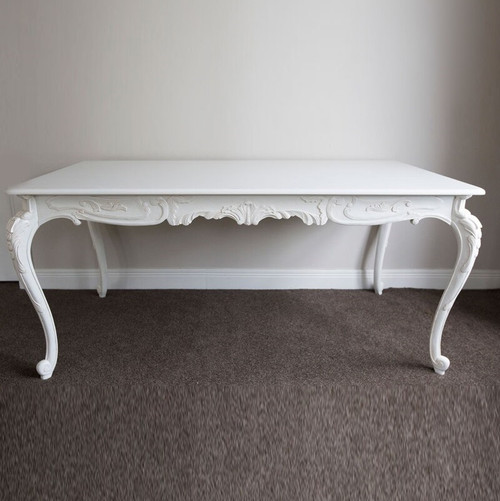 ANTOINETTE FRENCH DINING TABLE | Antique White