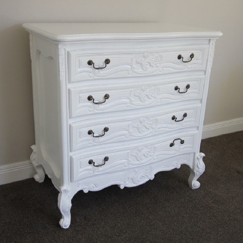 ROCOCO 4 DRAWER CHEST OF DRAWERS | White