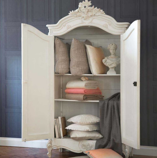 PROVENCAL ARMOIRE WITH MIRRORS