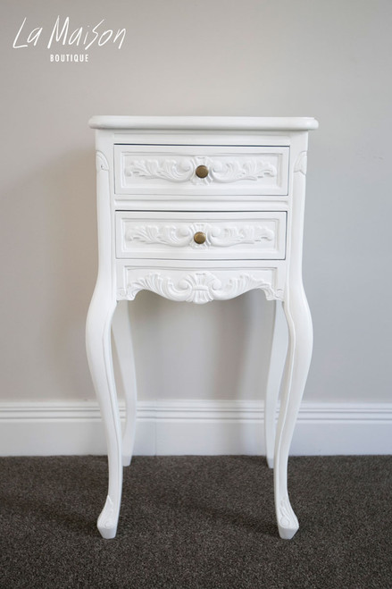 LOUIS BEDSIDE TABLE | Pure White