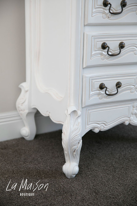 PRE ORDER: 7 Drawer Tallboy - antique white