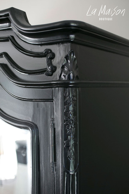 PRE ORDER: Two Door Armoire with Mirrors - black