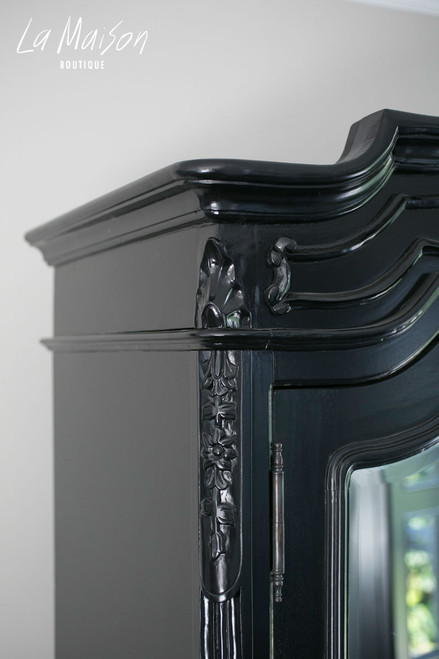 PROVENCAL ARMOIRE WITH MIRRORS | Black