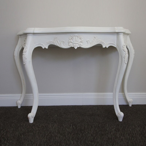 SERPENTINE WALL TABLE | Antique White