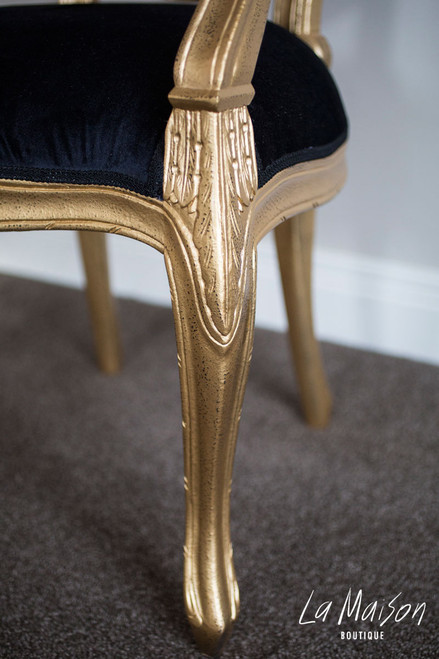 PRE ORDER: Rosebud Arm Chair - gold
