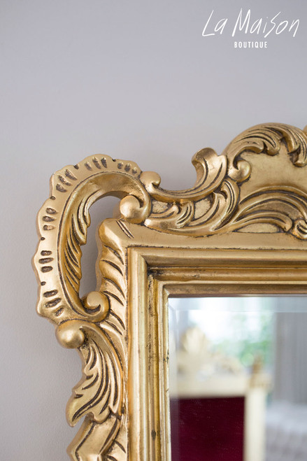 FRENCH ANTIQUE CARVED MIRROR | Antique Gold