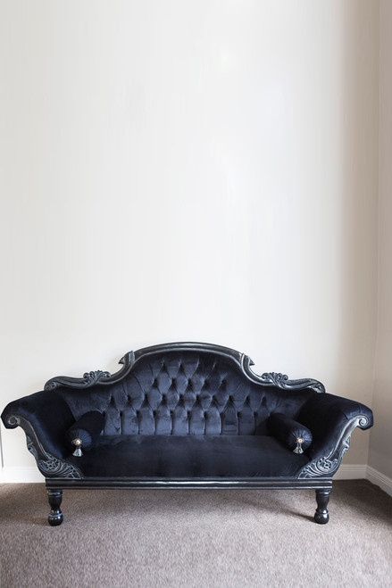 COLONIAL DOUBLE ENDED CHAISE LONGUE | Black