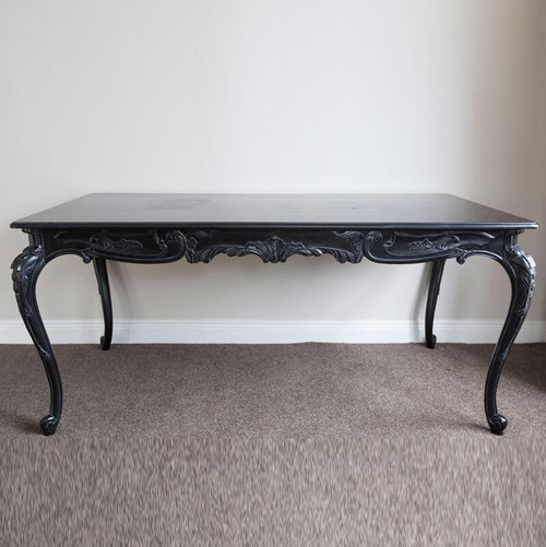 ANTOINETTE FRENCH DINING TABLE | Black