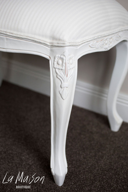 FLOWER CARVED LARGE STOOL