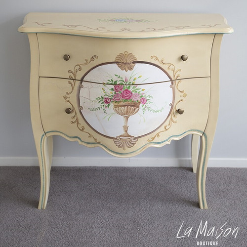 HAND PAINTED FLORIA CHEST OF DRAWERS