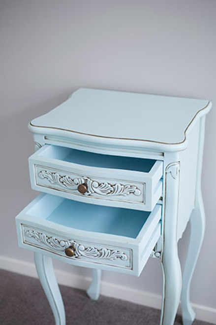 PRE ORDER: Bedside table - duck egg blue