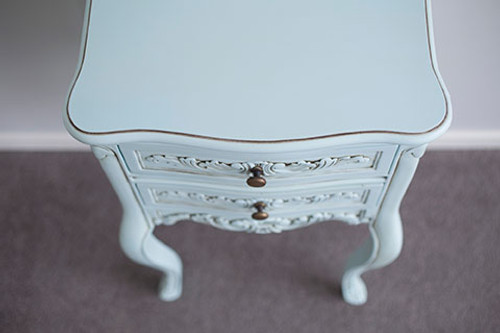 LOUIS BEDSIDE TABLE | Duck Egg Blue