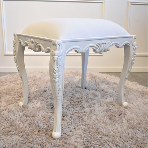 PROVENCAL CARVED STOOL