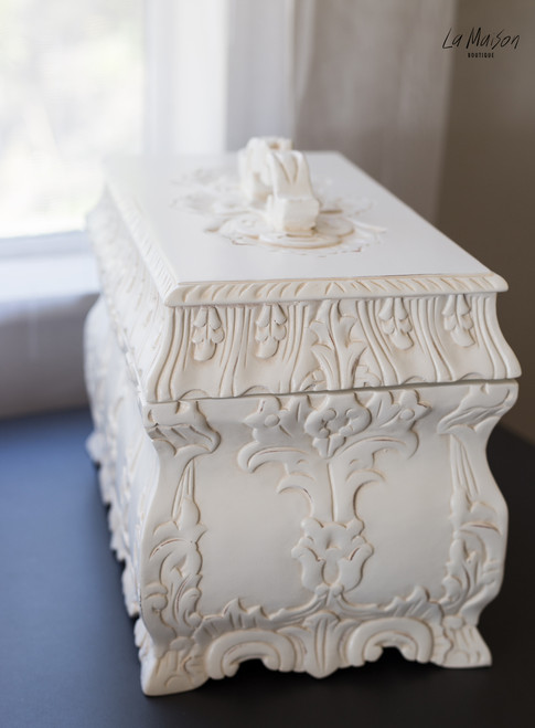 JEWELLERY CASKET | White