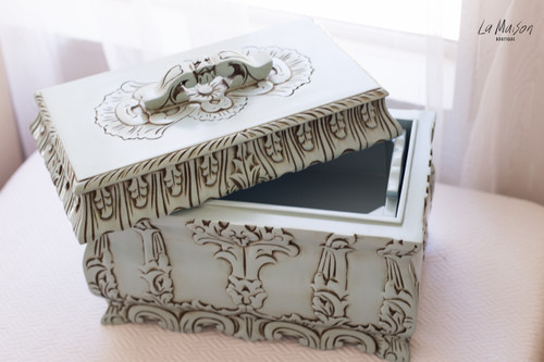 JEWELLERY CASKET | Duck egg blue