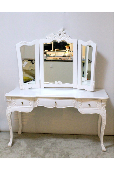 FRENCH TRIPLE MIRROR DRESSING TABLE