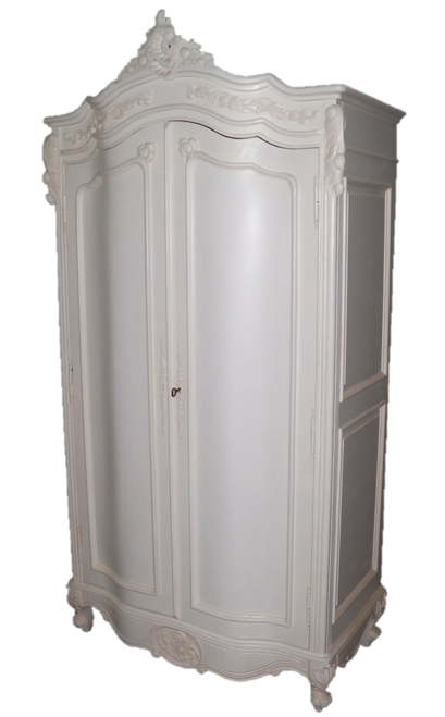 ROMANCE 2 DOOR ARMOIRE | White