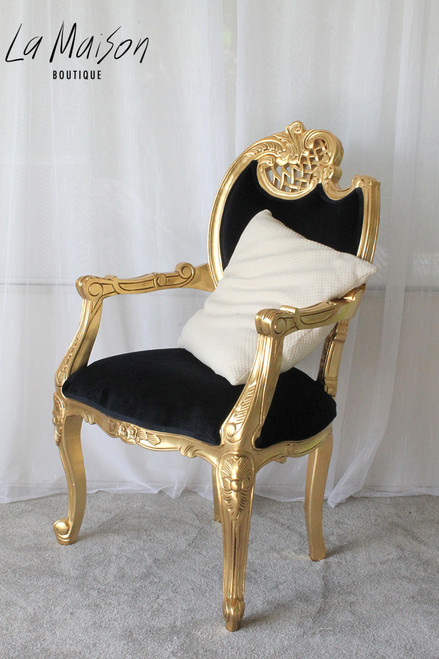 LOUIS XV SCROLL ARM CHAIR