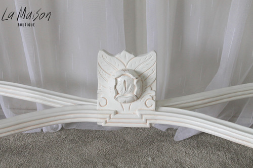 PRE ORDER: Grape Carved Console Table - Antique White